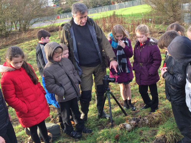 Laurie Campbell and pupils decide on what they can photograph